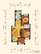 江南中央花园3室2厅2卫95平方米户型图