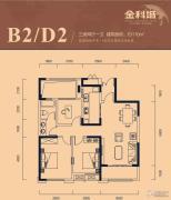 金科城3室2厅1卫110平方米户型图