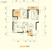 广泰锦苑3室2厅1卫98平方米户型图