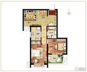 麒融国际2室2厅1卫75平方米户型图