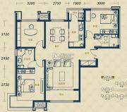 加州郡府・融邦3室2厅2卫115平方米户型图