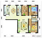 天庆国际新城2室2厅1卫97平方米户型图