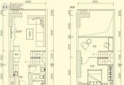 星河城市广场2室2厅1卫0平方米户型图