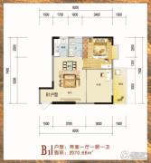 长阳福园住宅小区1室1厅0卫0平方米户型图