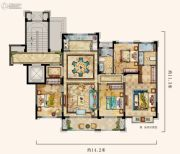 中梁温岭印象4室3厅2卫139平方米户型图