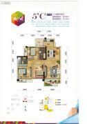 长业・天江城3室2厅2卫78--90平方米户型图