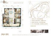 融创观澜湖公园壹号3室2厅2卫76--81平方米户型图