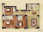 远洋国际中心3室2厅4卫283平方米户型图