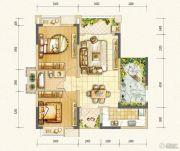 万达西双版纳国际度假区2室2厅1卫84平方米户型图