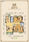 凯城一品4室2厅2卫140平方米户型图