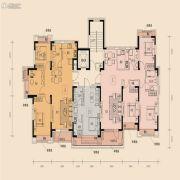 中铁丁香水岸3室2厅1卫102平方米户型图