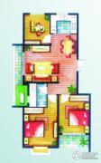 上书房3室2厅1卫100平方米户型图