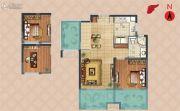 弘阳上湖1室2厅1卫78--80平方米户型图