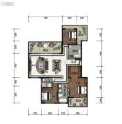 天泰・大理十��3室2厅2卫161平方米户型图