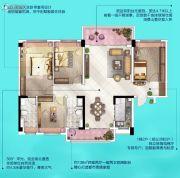 广州挂绿湖碧桂园4室2厅2卫138平方米户型图