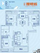 郑西理想城3室2厅1卫107平方米户型图
