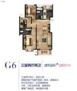 铭泰瑞云佳苑3室2厅2卫120平方米户型图