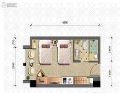 晋愉雅高国际1室1厅1卫35平方米户型图