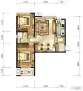九宫馆2室1厅1卫93平方米户型图