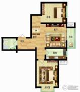 燕西台2室2厅1卫79平方米户型图