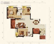 天成郦湖国际社区3室2厅2卫116平方米户型图