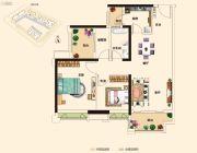 三水万达广场3室2厅1卫86平方米户型图