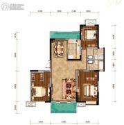 紫薇西棠3室2厅2卫135平方米户型图