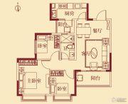恒大翡翠华庭3室2厅1卫93平方米户型图