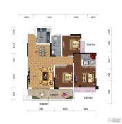 鸿达.金域世家3室2厅2卫105平方米户型图
