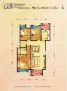 丽彩・溪悦城3室2厅2卫116平方米户型图