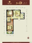 水上人家(翠堤・御墅)2室1厅1卫76平方米户型图