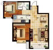 天昱・凤凰城2室2厅1卫80--82平方米户型图