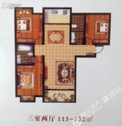 汝河外滩3室2厅2卫113--152平方米户型图