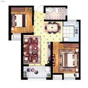 丽景湾华庭2室2厅1卫83平方米户型图