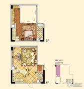 北大资源梦想城公寓2室1厅1卫0平方米户型图