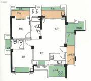 霞浦金顶国际2室2厅2卫89平方米户型图