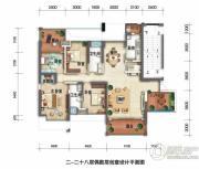 锦绣御园4室2厅2卫165平方米户型图