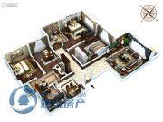 金石里巷3室2厅2卫129平方米户型图
