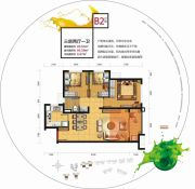 中邦・御珑湾3室2厅1卫85平方米户型图