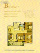 华建香颂溪岸3室2厅1卫105平方米户型图