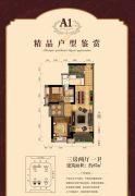 湛江万达广场3室2厅1卫87平方米户型图
