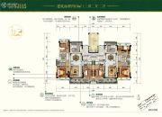碧桂园天麓山3室2厅2卫119平方米户型图