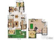 华启金悦府3室3厅4卫150平方米户型图