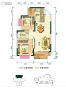 申佳上海时光2室2厅2卫66平方米户型图
