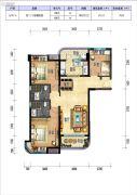碧桂园十里银滩3室2厅2卫88--113平方米户型图