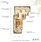 花屿海1室1厅1卫63平方米户型图