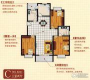 亿腾时代广场3室2厅2卫0平方米户型图