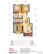 绿地泉景嘉园3室2厅1卫100平方米户型图