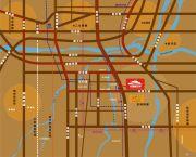龙湖锦艺城交通图