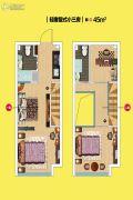 华尔中心0室0厅0卫45平方米户型图